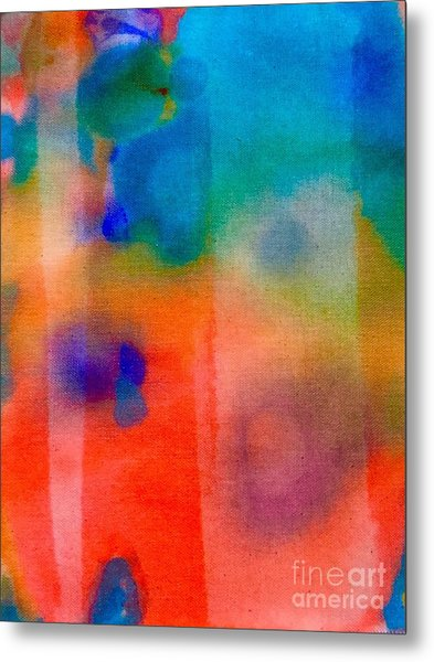 Metal Print featuring the painting Abstract 1 by Cristina Stefan