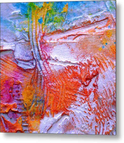 Metal Print featuring the painting Abstract 3 by Tracy Bonin