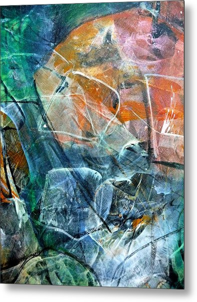 Abstract #326 - Happy Hour Metal Print