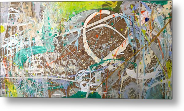Abstract #41915 Or Waxing Gibbous Metal Print