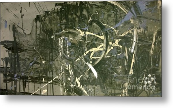 Abstract #42015 Or Lock Ness In Town Metal Print