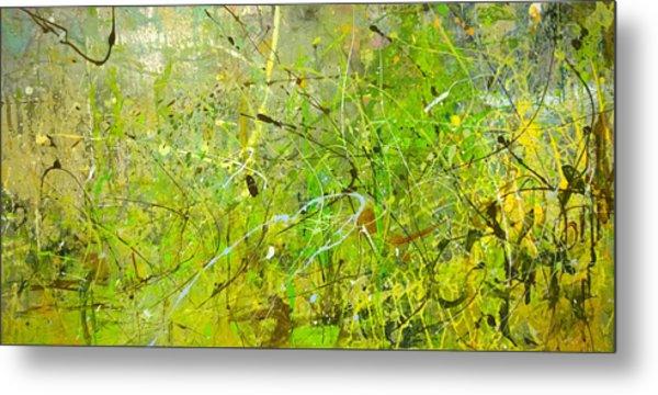 Abstract #42515b Or Marsh Life Metal Print