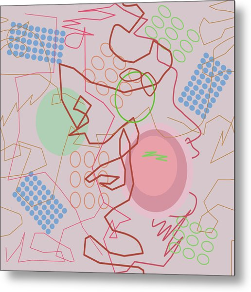 Abstract 8 Pink Metal Print