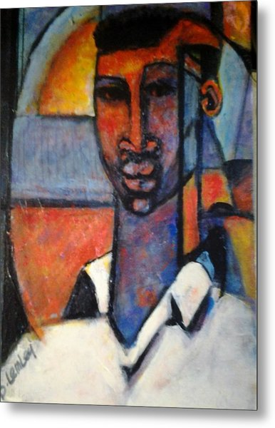 Abstract African Metal Print