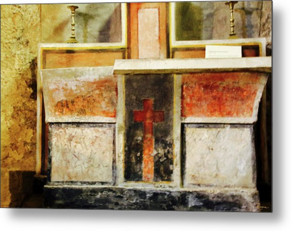 Metal Print featuring the photograph Abstract Altar by Rasma Bertz
