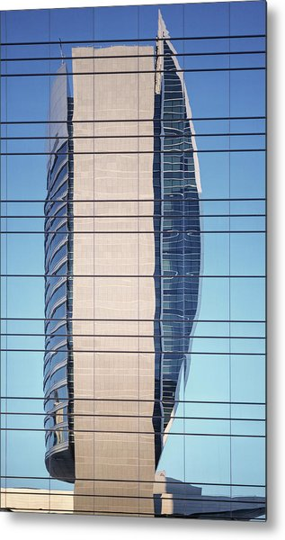 Abstract Architecture - National Bank Of Dubai Metal Print