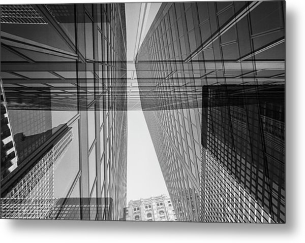 Abstract Architecture - Toronto Financial District Metal Print