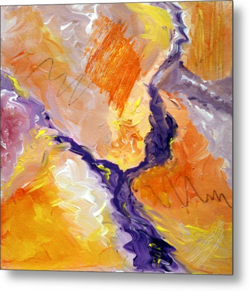 Abstract Art - Fire River Metal Print
