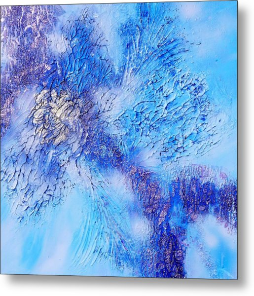 Abstract Art - The Colors Of Winter Metal Print