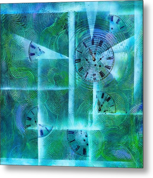 Abstract Art - Time Fragments Metal Print
