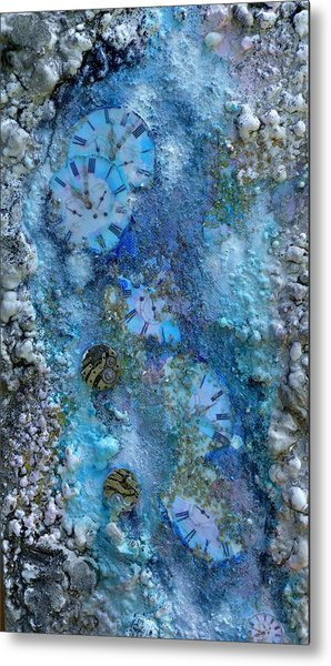 Abstract Art - Time Is Precious  Metal Print