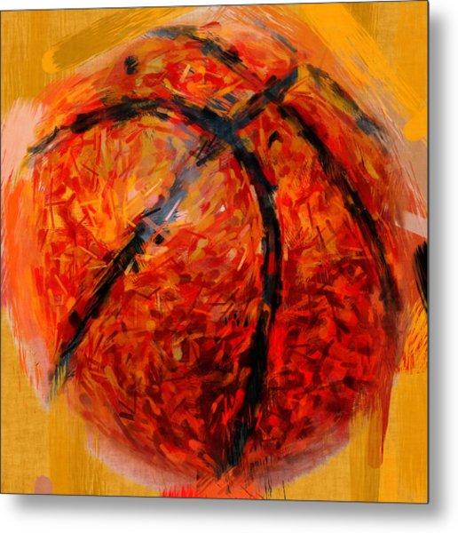 Abstract Basketball Metal Print