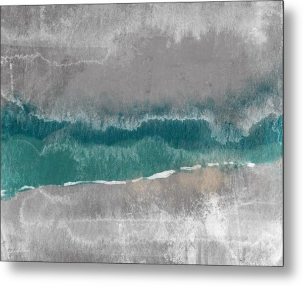 Abstract Beach Landscape- Art By Linda Woods Metal Print