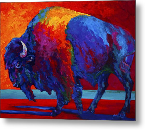 Abstract Bison Metal Print