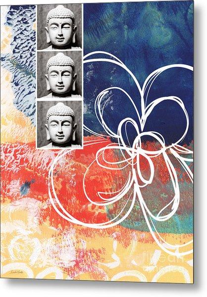 Abstract Buddha Metal Print
