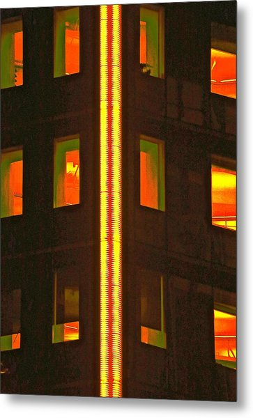 Abstract Building Metal Print by Gillis Cone