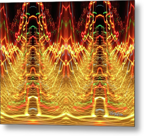 Abstract Christmas Lights #175 Metal Print