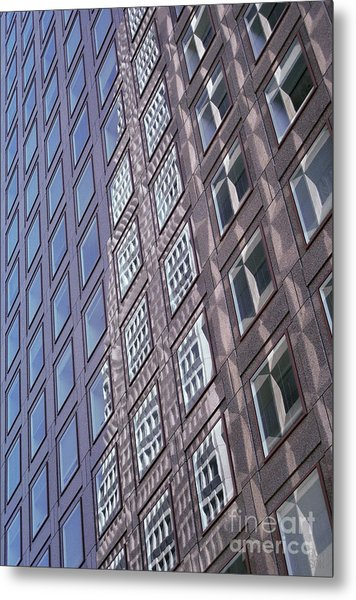 abstract cities architecture photograph - Glass Grid Metal Print