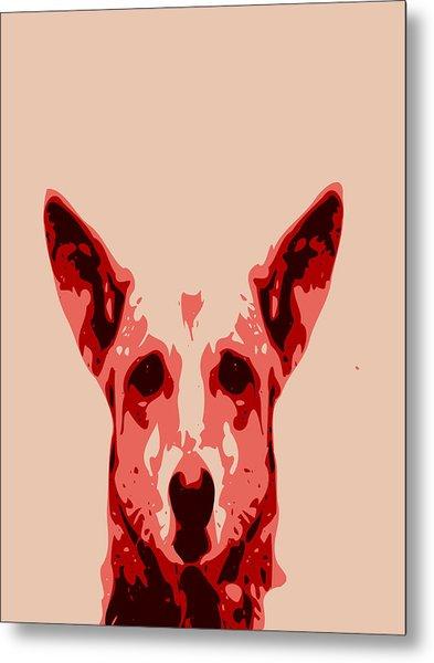 Abstract Dog Contours Metal Print