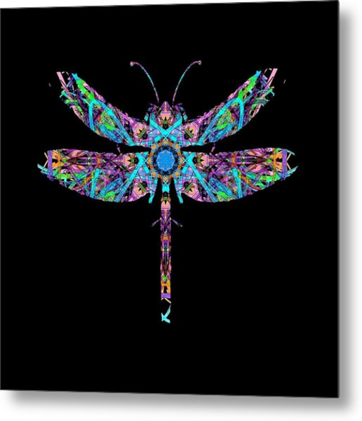 Abstract Dragonfly Metal Print