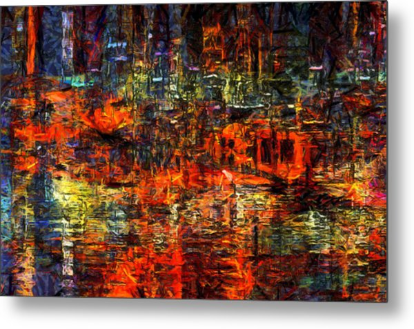 Abstract Evening Metal Print