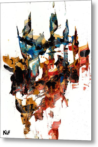 Abstract Expressionism Painting Series 750.102910 Metal Print