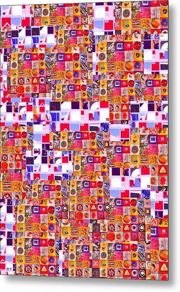Abstract Expressionist Collage Metal Print by Richard Tuvey