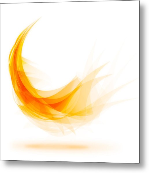 Abstract Feather Metal Print