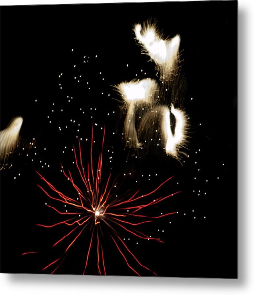 Abstract Fireworks IIi Metal Print
