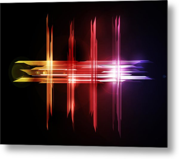 Abstract Five Metal Print by Michael Tompsett
