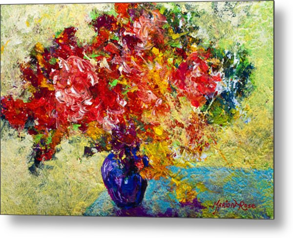 Abstract Floral 1 Metal Print