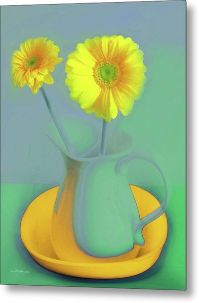 Abstract Floral Art 307 Metal Print