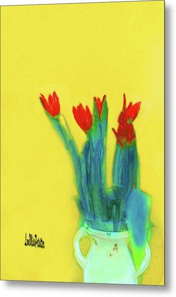 Abstract Floral Art 345 Metal Print