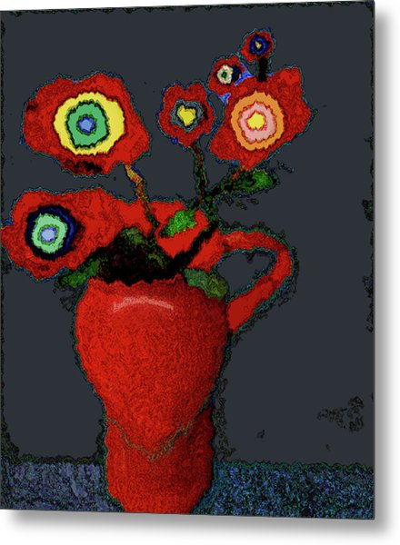 Abstract Floral Art 90 Metal Print