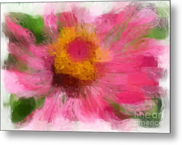 Abstract Flower Expressions Metal Print