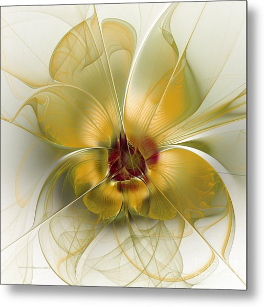 Abstract Flower With Silky Elegance Metal Print