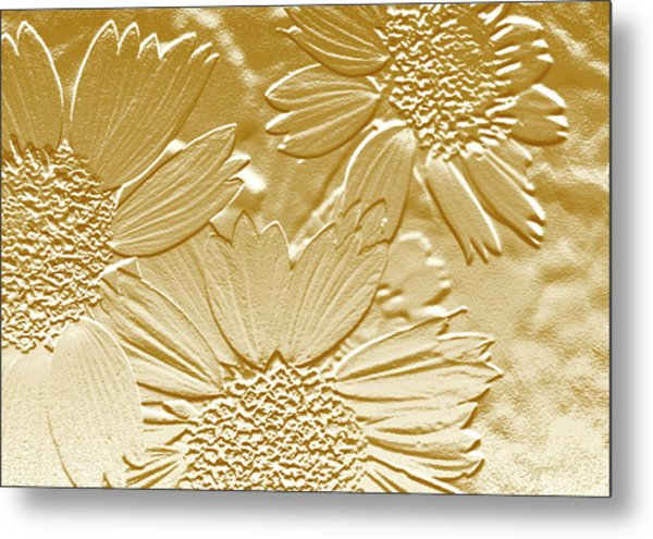 Abstract Flowers 4 Metal Print