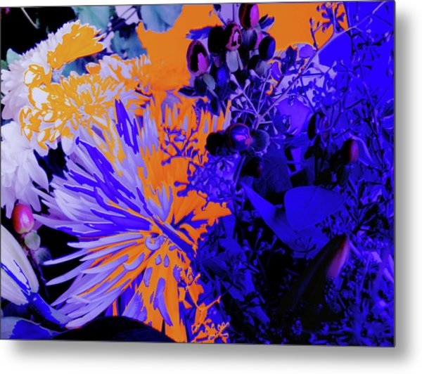 Abstract Flowers Of Light Series #1 Metal Print