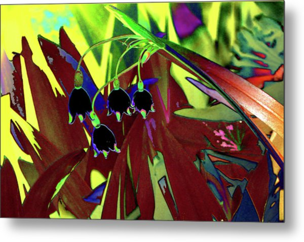 Abstract Flowers Of Light Series #10 Metal Print