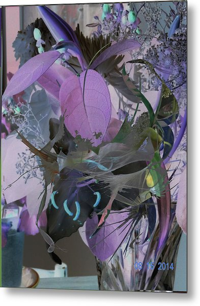 Abstract Flowers Of Light Series #12 Metal Print