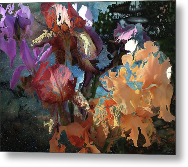 Abstract Flowers Of Light Series #15 Metal Print