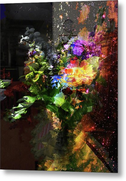 Abstract Flowers Of Light Series #17 Metal Print