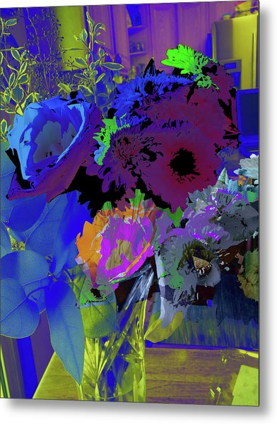 Abstract Flowers Of Light Series #18 Metal Print