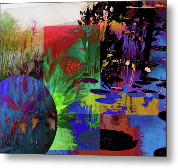 Abstract Flowers Of Light Series #19 Metal Print