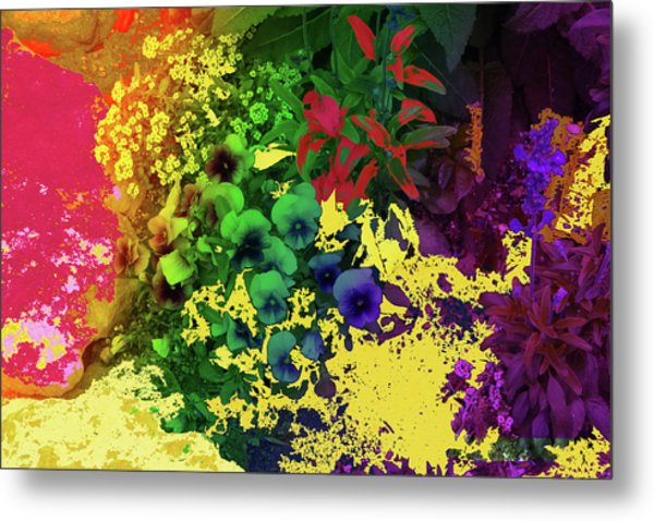 Abstract Flowers Of Light Series #2 Metal Print
