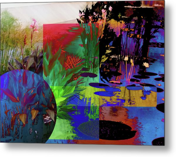 Abstract Flowers Of Light Series #21 Metal Print