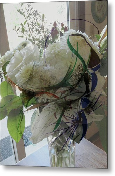 Abstract Flowers Of Light Series #3 Metal Print