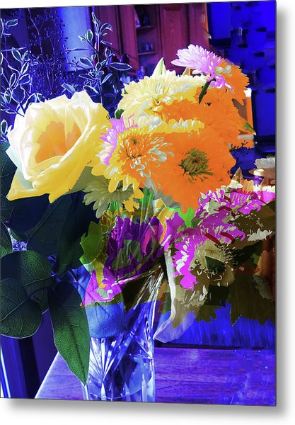 Abstract Flowers Of Light Series #7 Metal Print