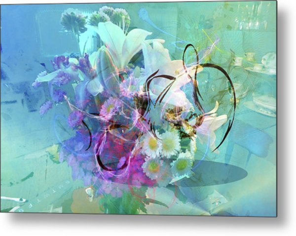 Abstract Flowers Of Light Series #9 Metal Print