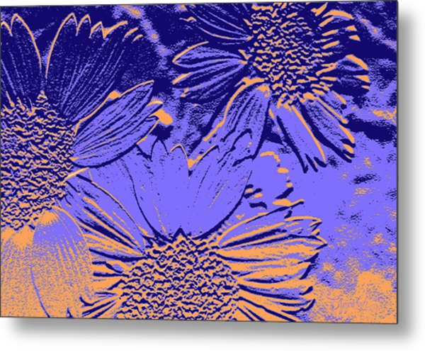 Abstract Flowers 2 Metal Print